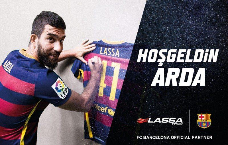 Lassa endorses FC Barcelona's Arda Turan