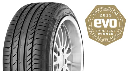 Evo tyre test – another win for Continental