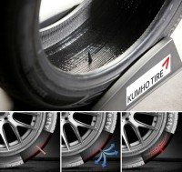 IAA launch for Kumho electric vehicle tyre, self-seal on display