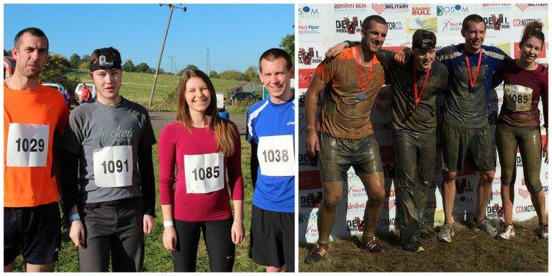 Cam team race in Devil Mud Run