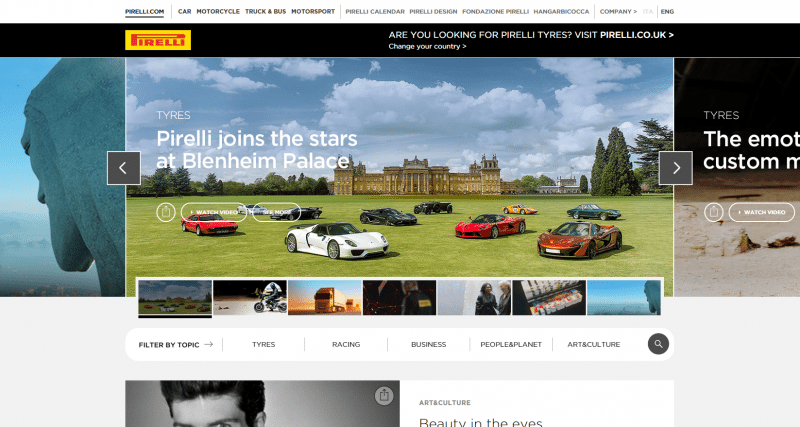 New Pirelli website online with increased video content
