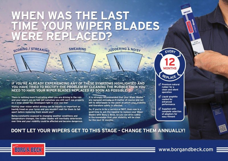 Borg & Beck publishes wiper blade safety poster