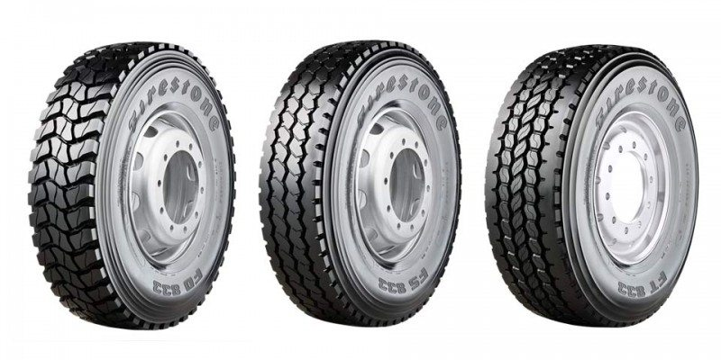 Firestone on/off drive, steer and trailer tyres