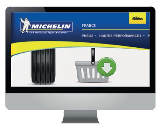 Michelin website selling tyres directly to consumers in Europe