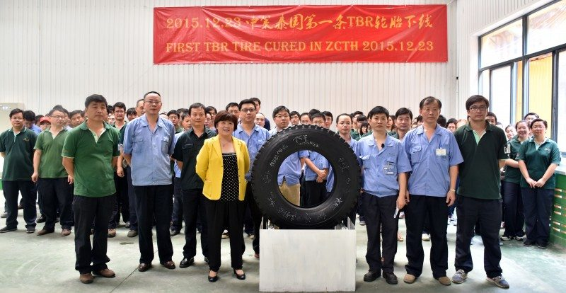 First tyre runs off new ZC Rubber TBR production line in Thai factory