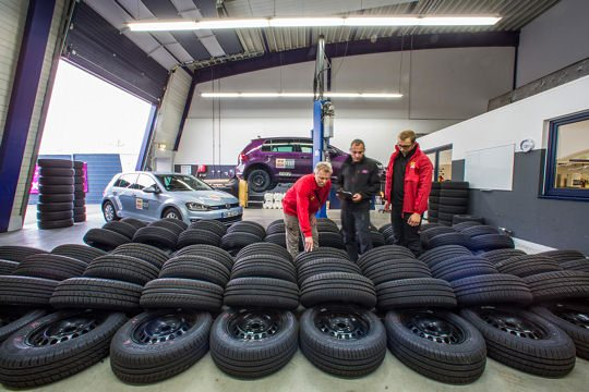 A photo illustrating the original ACE Summer tyre test 2016