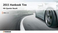 Hankook Tire Q4 sales steady, full-year results show decline