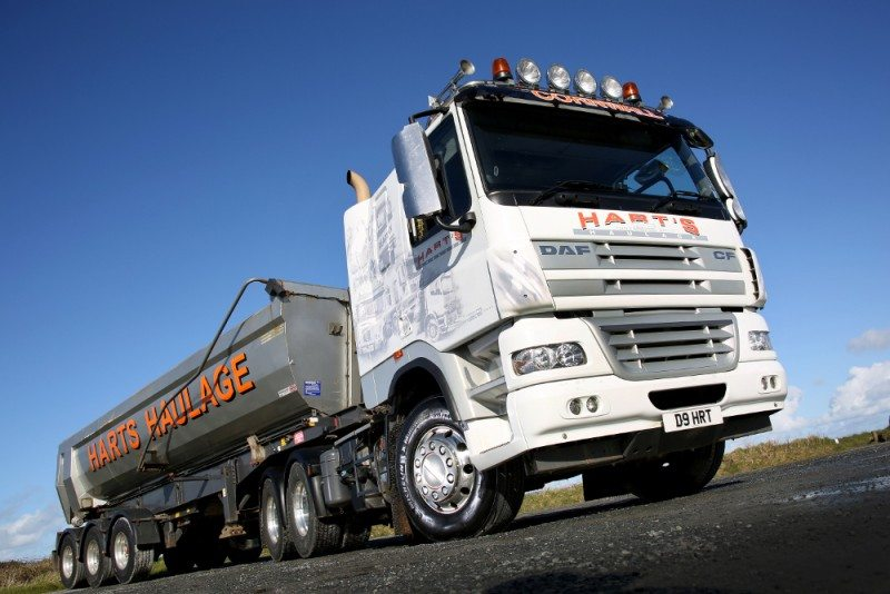 Hart's Haulage now fits Michelin tyres across its entire fleet, which consists of a mix of 26 DAF, Scania and Volvo tractor units and tipper-bodied rigid trucks, plus tipper trailers and four concrete mixers