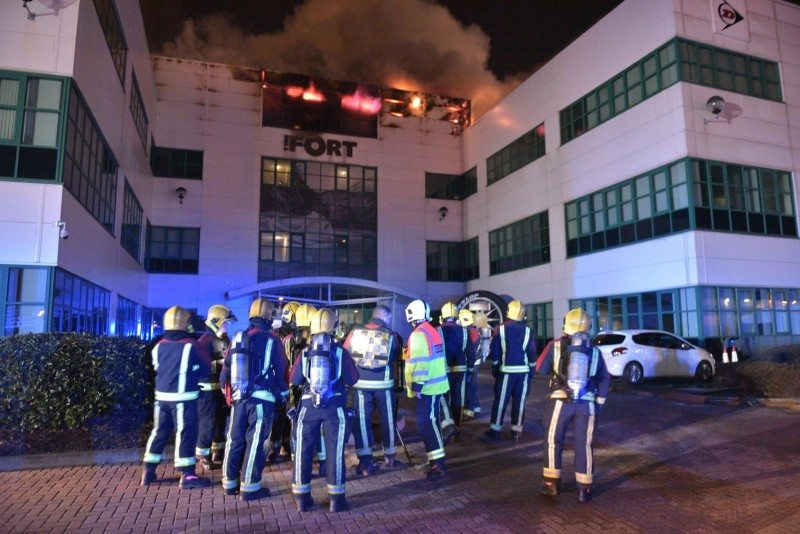 Nearly 100 firefighters were called to The Fort  (Photo: West Midlands Fire Service)