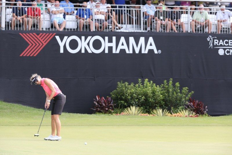 2015 Champion Kris Tamulis on the 18th at Yokohama Tire LPGA Classic