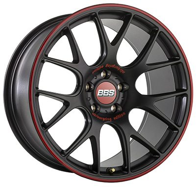 The BBS CH-R 'Nürburgring Edition' features laser engraving and optional rim protector in BBS red.