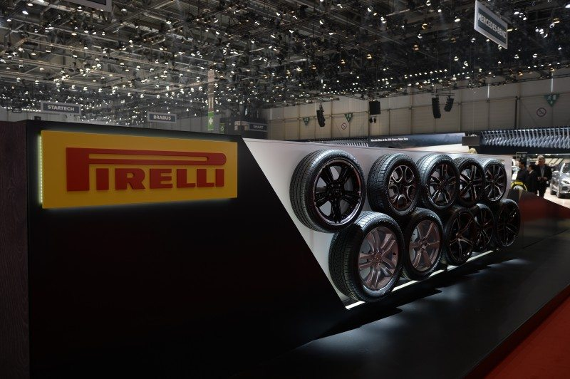 A significant part of the Pirelli range was on-show for all the visitors passing and OEMs present to see