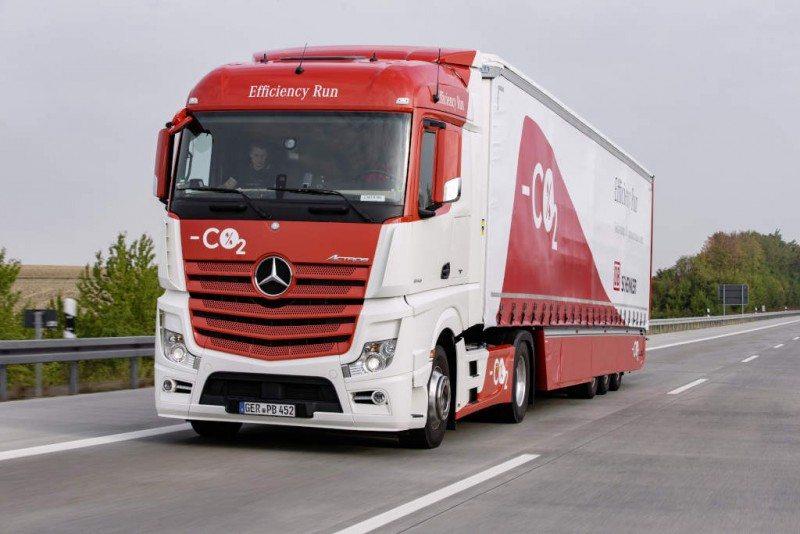 Goodyear Fuelmax truck tyres in Mercedes-Benz Efficiency Run 2015