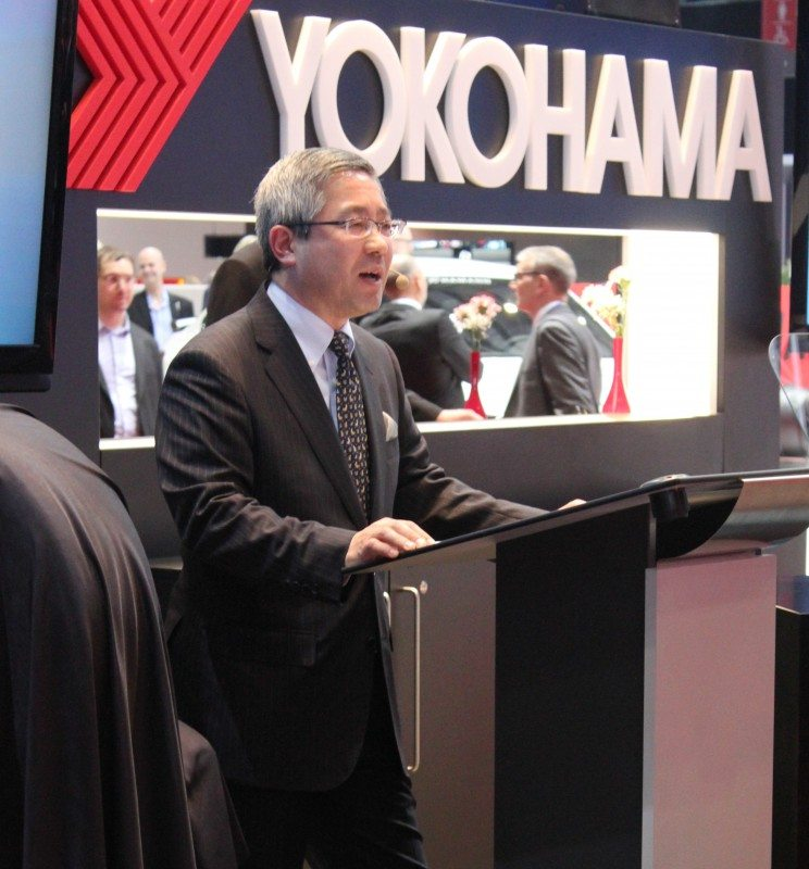 Yokohama Europe GmbH president Keishi Hashimoto presented the three new products and a little about the thinking behind them