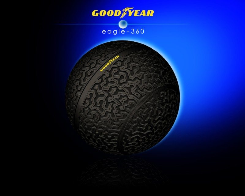 Goodyear's Eagle-360 spherical concept tyre uses biomimicry to inspire its brain-like tread pattern