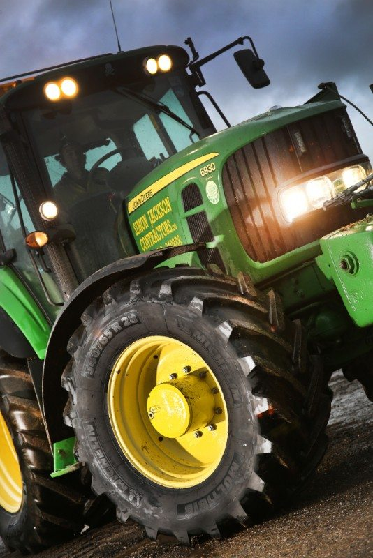 Simon Jackson Contractors has taken up Michelin's 0 per cent Flexelagri finance offer