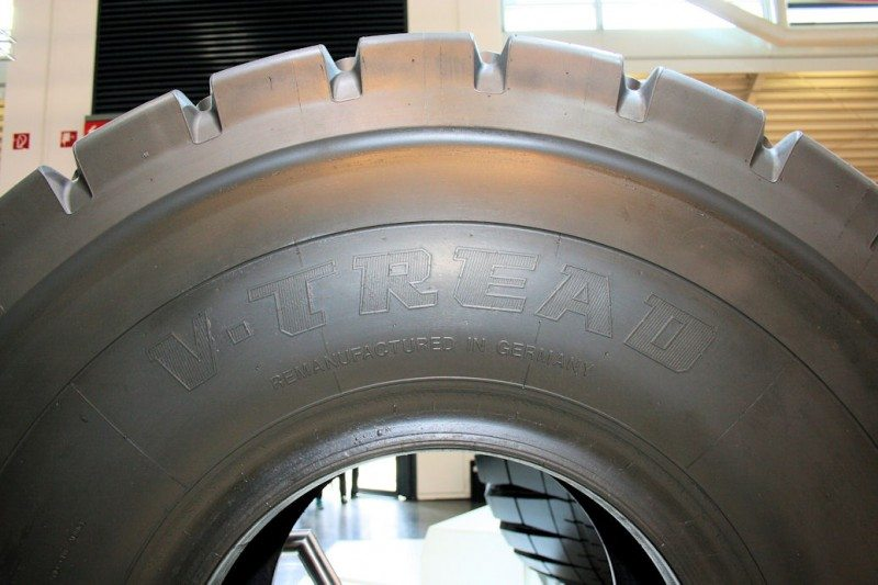 The Bridgestone name may be absent, but V-Tread retreads are manufactured for the tyre maker by Rösler Tyre Innovators