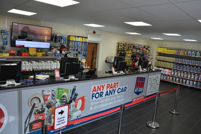 GSF Car Parts' retail store upgrade