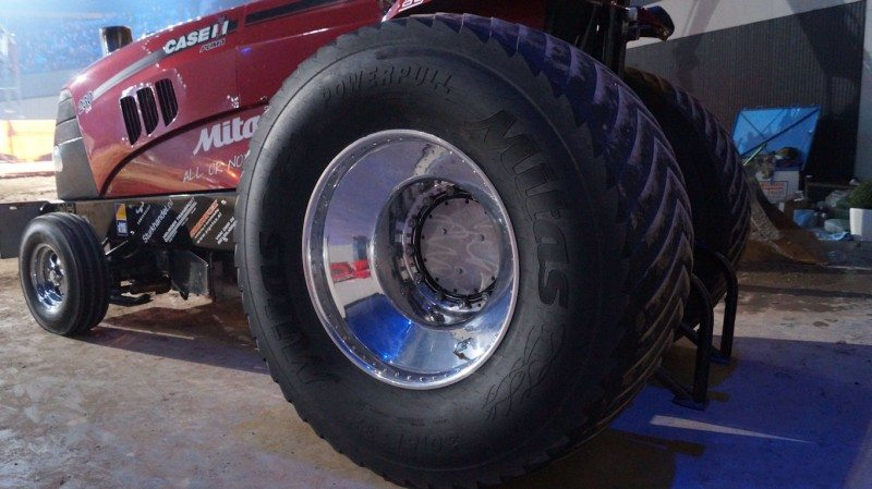 The slick Powerpull gives tractor pullers the freedom to create their own winning tread