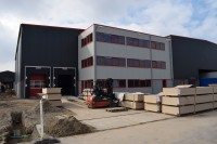 New warehouse and office space will be finished by the end of April
