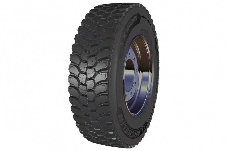 Five new tyres added to Michelin X Works construction range
