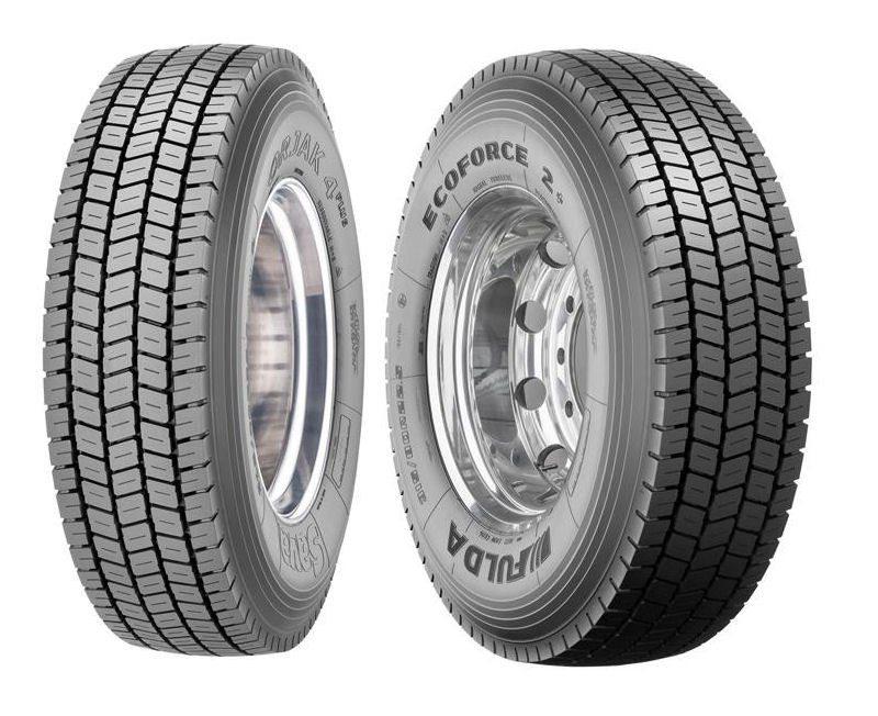 Sava Orjak 4Plus (l) and Fulda Ecoforce 2+ drive tyres
