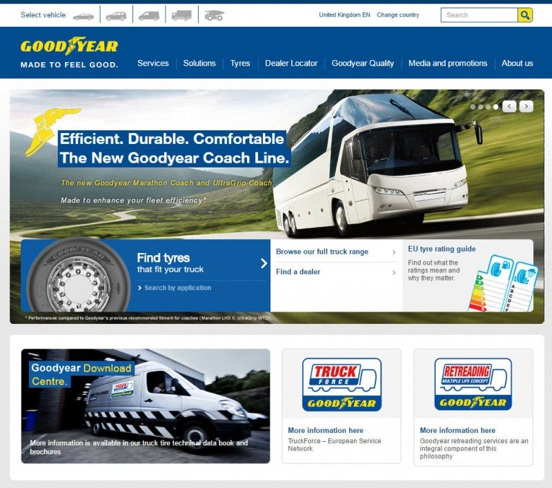 Goodyear updates pan-regional truck tyre website