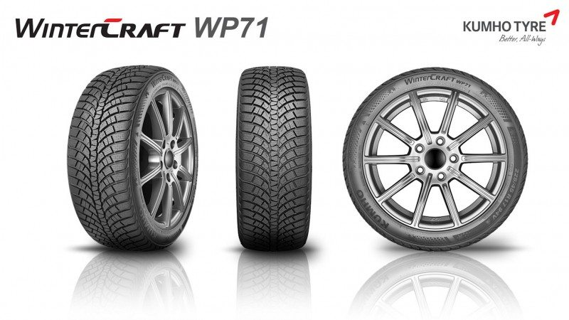 The Wintercraft WP 71 is Kumho's new winter UHP tyre, and will go on sale this autumn