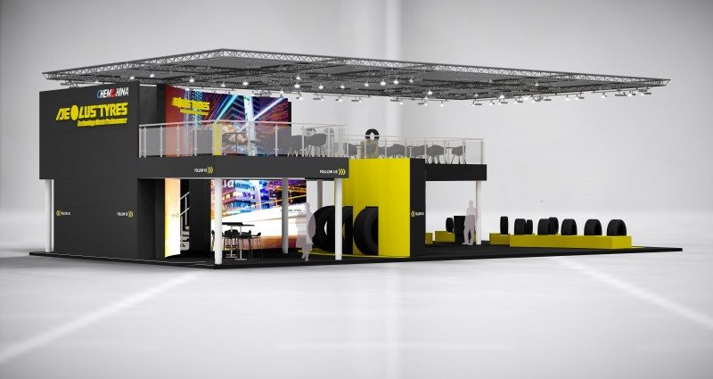 Aeolus is joining the group of major tyre brands in Hall 3 with an impressive two-tier stand