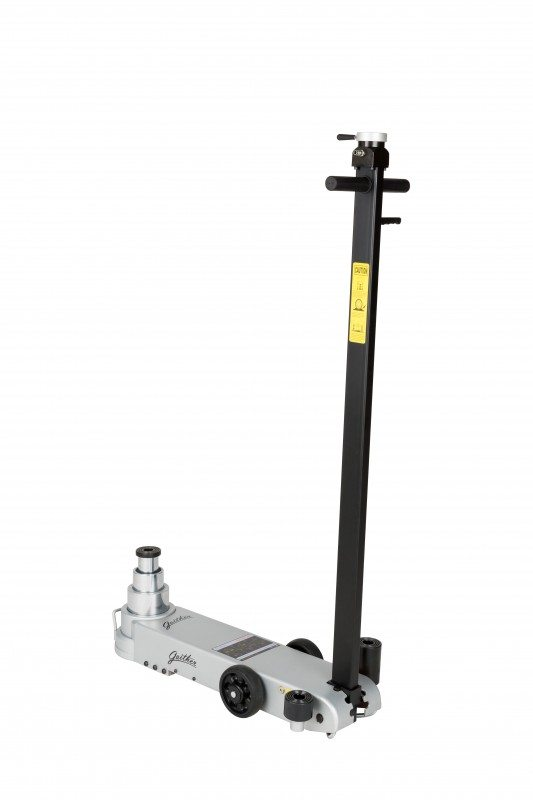 Gaither's new truck jack caters for most heavy duty vehicles and offers various weight capacity options of 45, 20 and 10 ton
