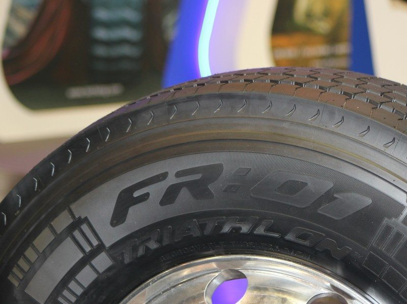 The new Pirelli R:01 Triathlon commercial tyre range (FR:01 Triathlon steer tyre pictured)