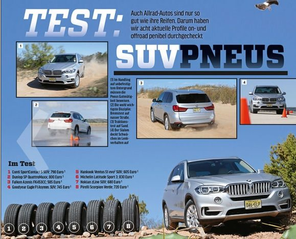 Autozeitung tested 8 tyres, but only 7 were included in the final results
