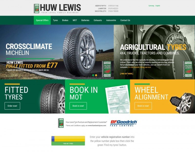 Huw Lewis Tyres' upgrades online platform with Michelin funding