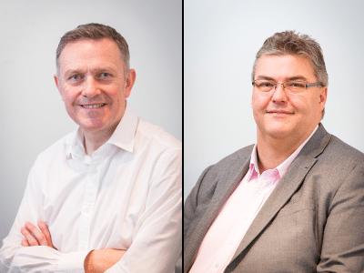 (l-r) Matthew Mardle, MWSD operations director; Clive Maudsley, MWSD finance director