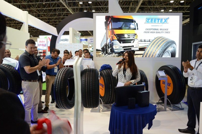 RJ Pallavi from SUNO 1024FM was invited to host the launch of the new Zeetex product line at Automechanika Dubai
