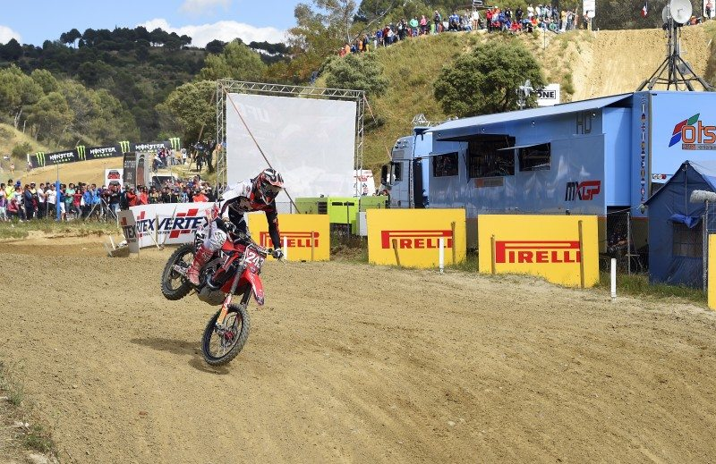 Tim Gajser dominated the MXGP class in Spain
