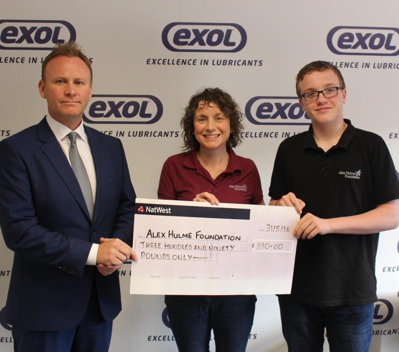 Exol Lubricants supports the Alex Hulme Foundation