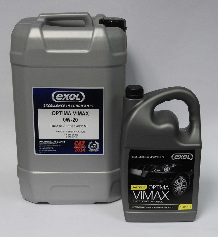 Exol's new Optima Vimax 0W-20 engine oil