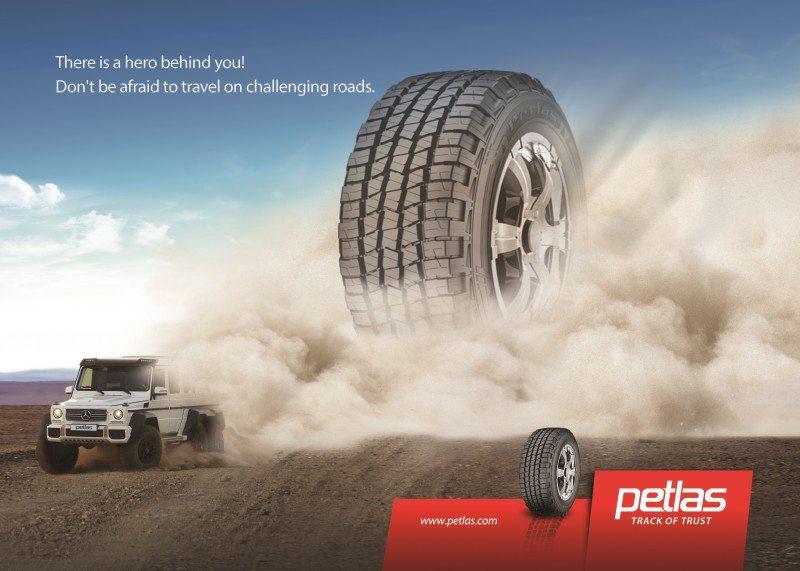 Marketing materials promoting Petlas' extended 4x4/SUV range