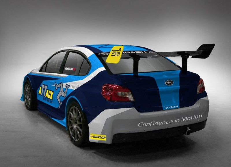 The Subaru WRX STi time attack car