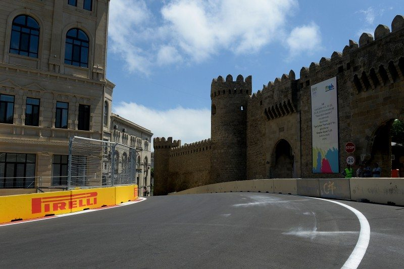 A tight street circuit, such as the newly inaugurated Baku track, carries obvious risk in the event of a blowout