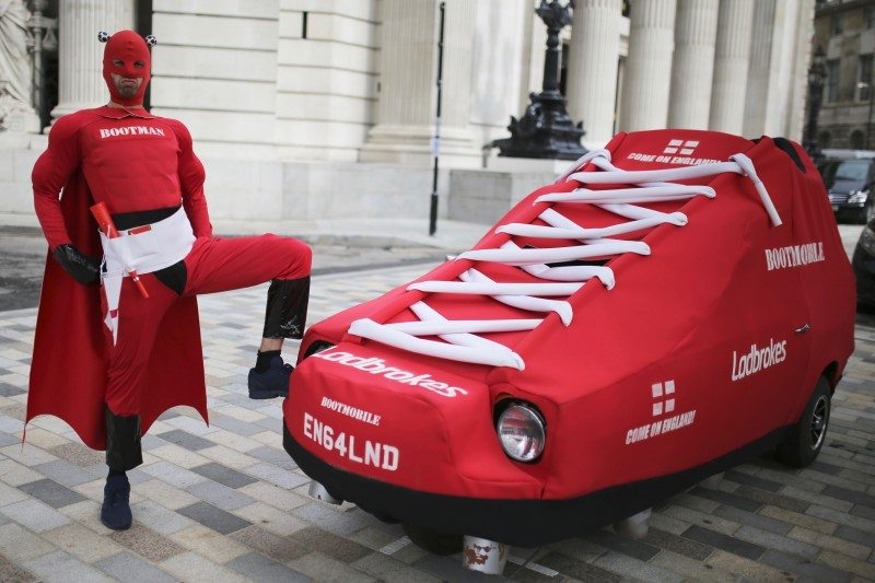 Bootman (aka Nathan Whitfield) and his Bootmobile have received funding from gambling firm, Ladbrokes
