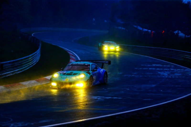 The 2016 Nürburgring 24 Hours race was eventually stopped due to seriously adverse weather