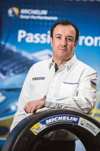 Jérôme Mondain, manager of Michelin's endurance racing programmes