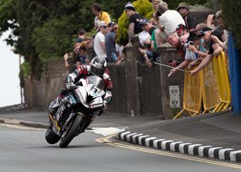 Michael Dunlop, Hawk BMW, entered the 133mph Club at the Isle of Man TT