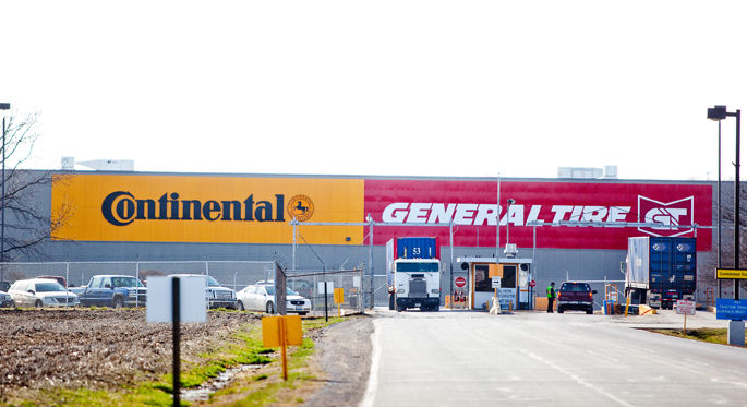 Continental says visitors should expect delays when entering the Mt. Vernon plant