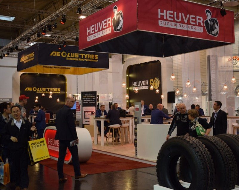 Heuver Tyrewholesale promoted Aeolus on its main stand, while the Barkley brand was given a stand of its own