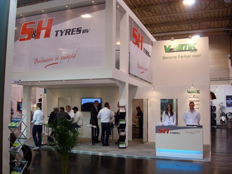 S&H Tyres V-Netik private label was the focus of the Dutch wholesaler's stand at Reifen 2016