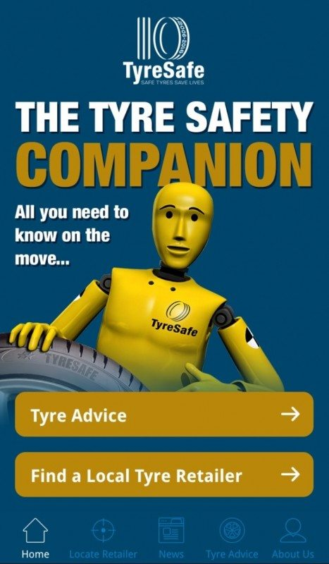TyreSafe's award-winning Tyre Safety Companion smartphone app was been relaunched