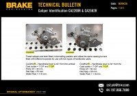Technical bulletins from Brake Engineering